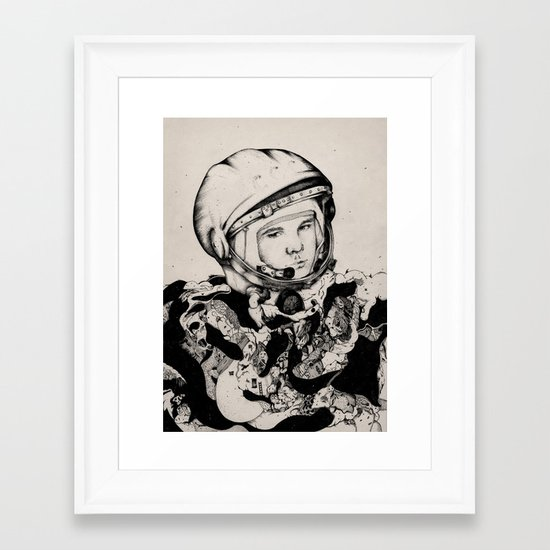 From Gagarin's Point Of View  Framed Art Print