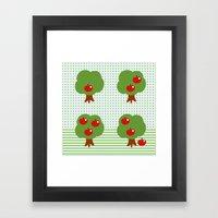 Newton's Apples Framed Art Print