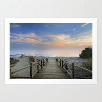 The Path..., The Beach..… Art Print