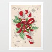 A Vintage Merry Christma… Art Print