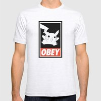 OBEY Picachu Mens Fitted Tee Ash Grey SMALL