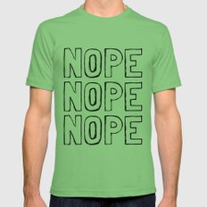 Nope Mens Fitted Tee Grass SMALL