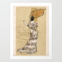 Ignes, the human volcano Art Print