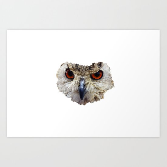OWL Art Print by Donphil | Society6