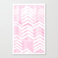 Pretty in Pink Chevron Canvas Print