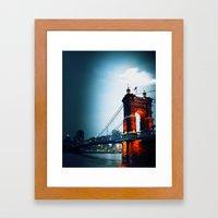 Singing Bridge, Cincinnati Framed Art Print