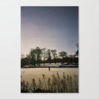 Ice Skater, Blickling Lake, Norfolk Canvas Print