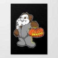 Halloween bear Canvas Print