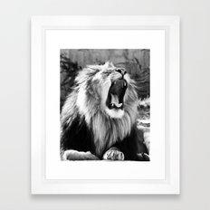 Tired King Framed Art Print