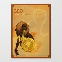 LEO Canvas Print