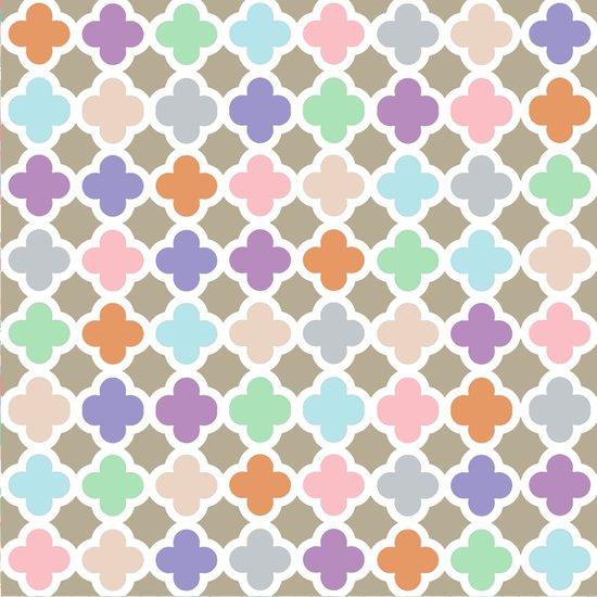 Girly Moroccan Quatroil Pattern Cute Pastel Colors Art Print