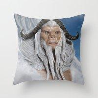 The Great White Ape Throw Pillow