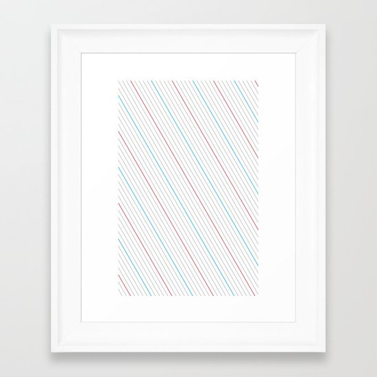 Simple Lines Framed Art Print