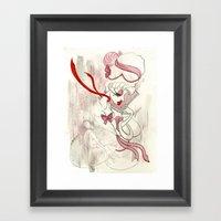 Rose de Charme Framed Art Print