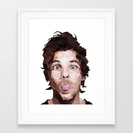 Louis Tomlinson - One Direction Framed Art Print