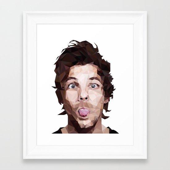 Louis Tomlinson - One Direction Framed Art Print