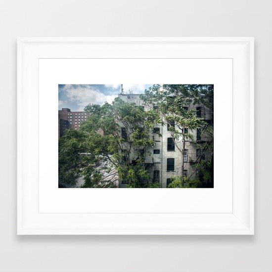 Day One, Through A Window Framed Art Print