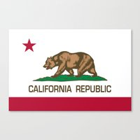 California Republic state flag - Authentic High Quality Version Canvas Print