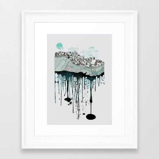 Don't let it go to waste Framed Art Print