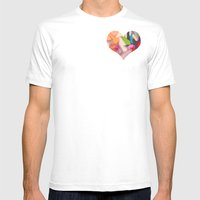 Deco Heart Mens Fitted Tee White SMALL
