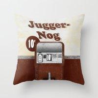 Jugger-Nog Throw Pillow