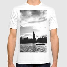 A different shade: B&W SMALL Mens Fitted Tee White