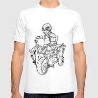 Skull Boy  On A Tricycle… Mens Fitted Tee White SMALL