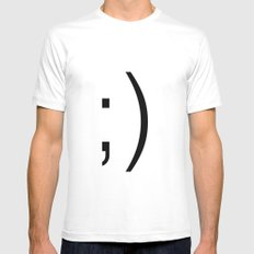 wink Mens Fitted Tee SMALL White