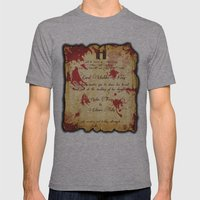 Red Wedding Mens Fitted Tee Athletic Grey SMALL