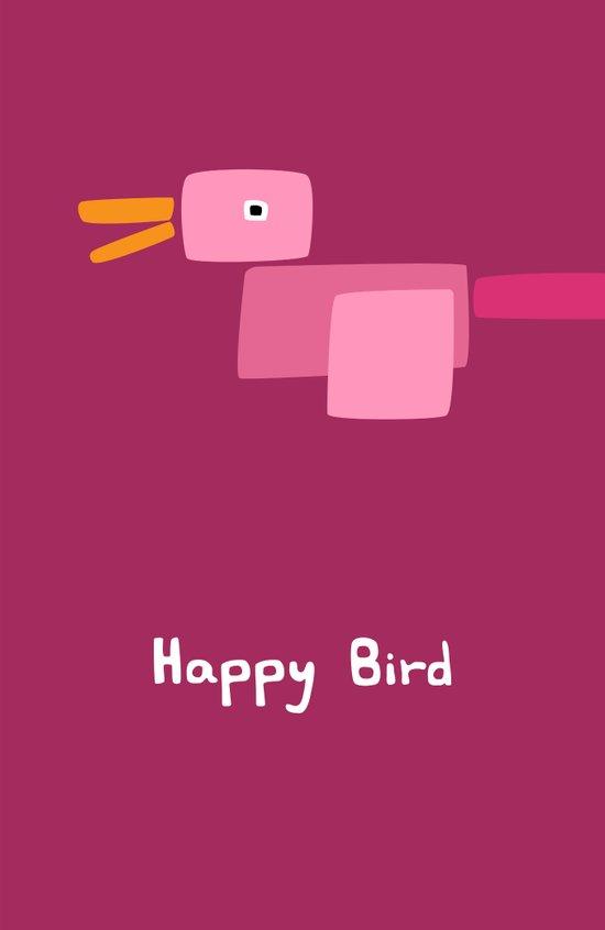 Happy Bird-Pink Art Print