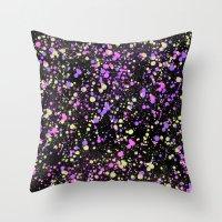 Paint Splatter Throw Pillow