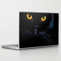 black cat Laptop & iPad Skins featuring Black cat by Vlad&Lyubov