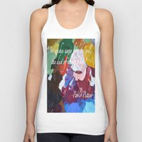 Paint Like Picasso. Unisex Tank Top