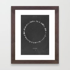 Eclipse - minimal poster Framed Art Print
