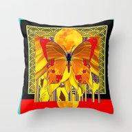 Modern Mystic Butterfly … Throw Pillow