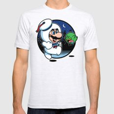 Super Marshmallow Bros. Ash Grey SMALL Mens Fitted Tee