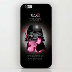 Berto: The Mental-issue pig trying Darth Vader costume iPhone & iPod Skin