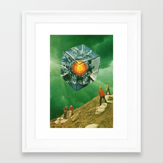 the visitor Framed Art Print