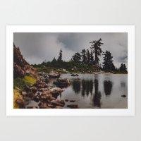 Rocky Pond Art Print