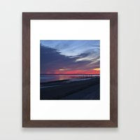 Magic Summer Sunset on the West Coast of DENMARK Framed Art Print