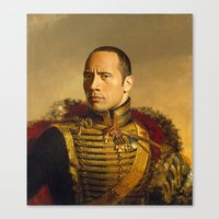 Dwayne (The Rock) Johnso… Canvas Print