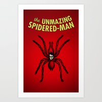 The Unmazing Spidered-Ma… Art Print