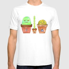 Magic Cacti Mens Fitted Tee White SMALL