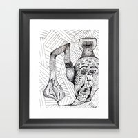Screaming Face Framed Art Print