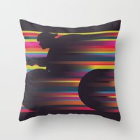 Olympic Cyclist Throw Pillow