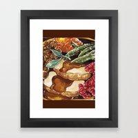 Turkey Dinner Framed Art Print