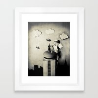 Storm kong (Those are not the Planes you are Climbing for) Framed Art Print