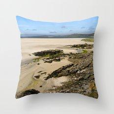 Luskentyre Beach Throw Pillow