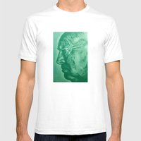 Wladimir Nabokov - Green Mens Fitted Tee White SMALL