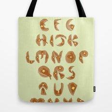 Pancake Alphabet Tote Bag